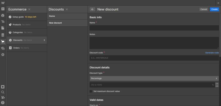 Webflow discounts