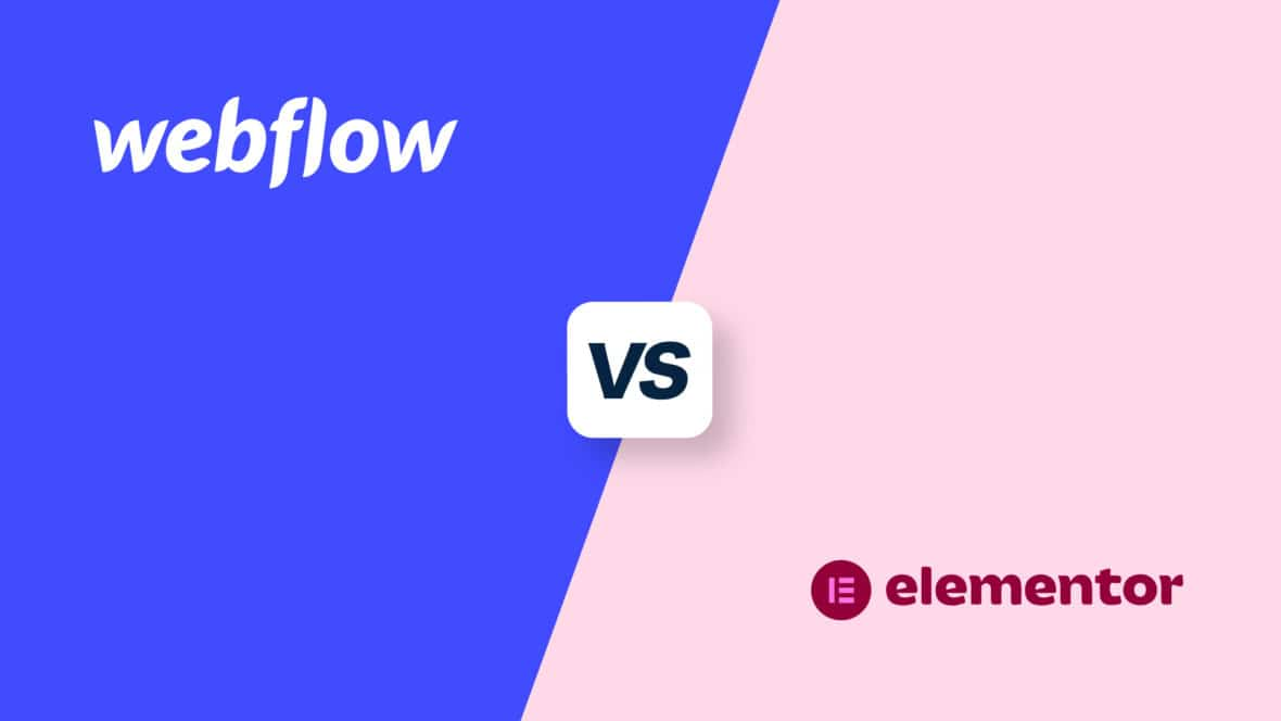 Webflow vs Elementor, featured image