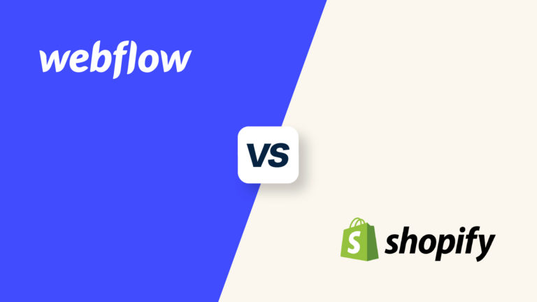Webflow vs Shopify, featured image