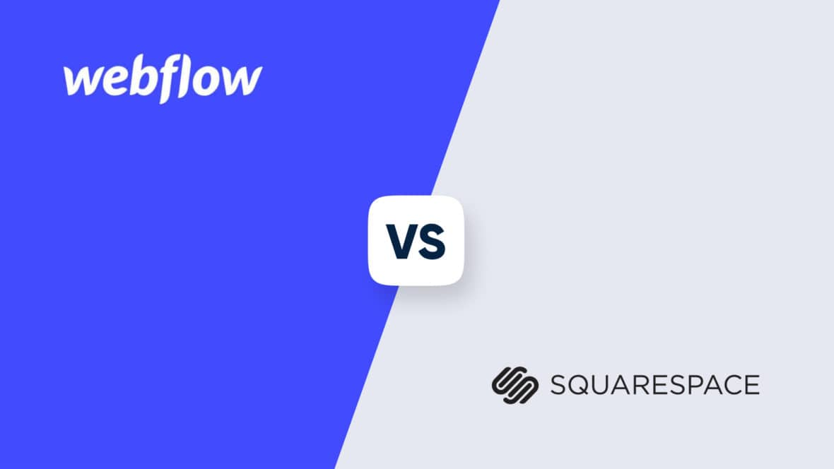 Webflow vs Squarespace, featured image