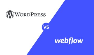 Webflow vs. WordPress, featured image