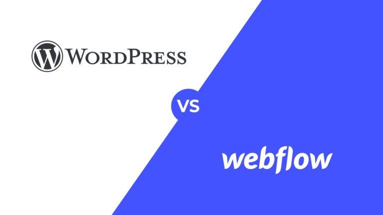 Webflow vs. WordPress, featured image