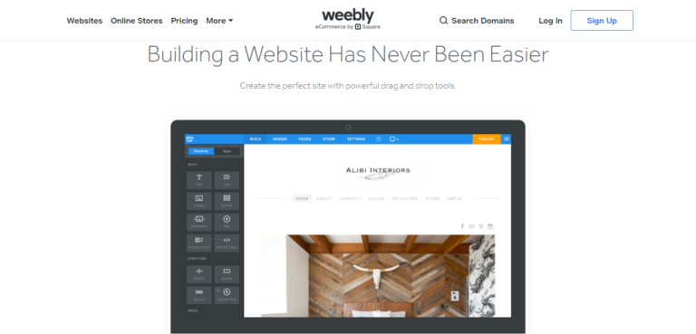 Weebly ease of use