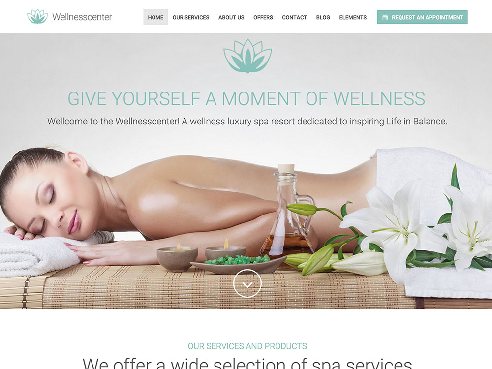 wellness-center-wordpress-theme