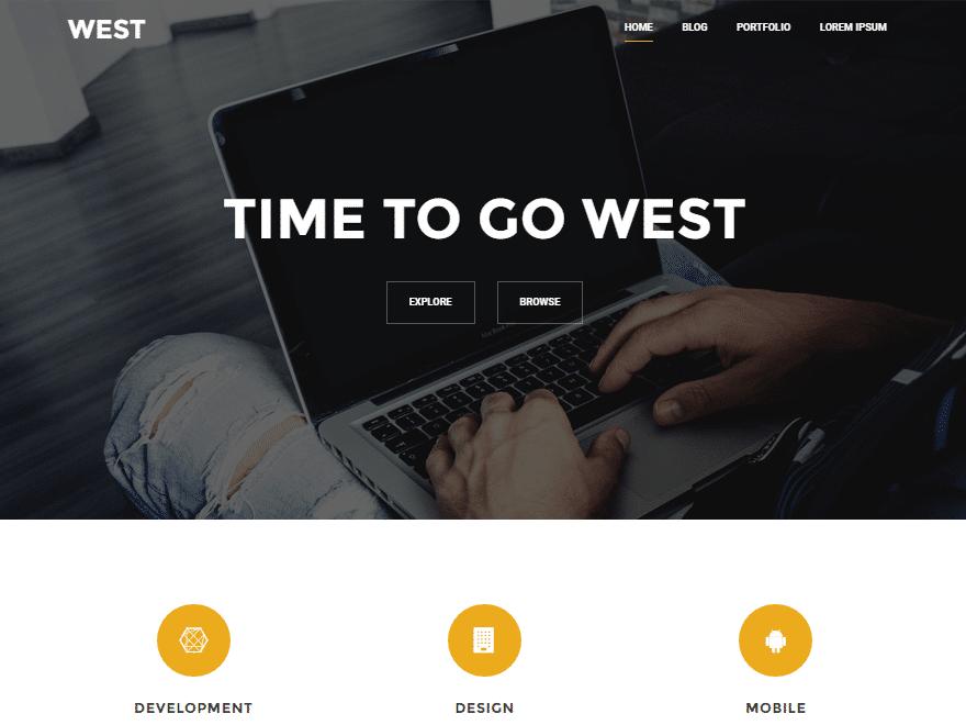 west wordpress screenshot