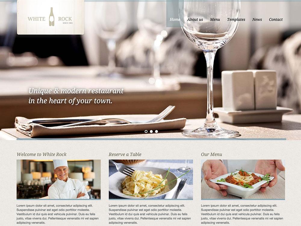white-rock-restaurant-theme