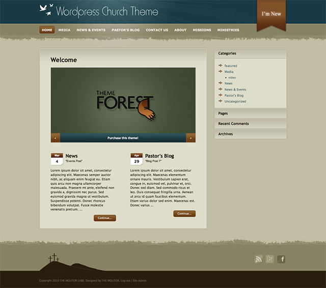 wordpress-church