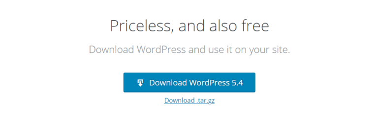 Downloading WordPress.
