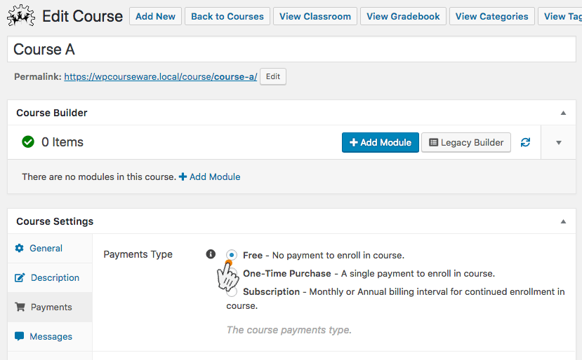 WP Courseware monetize