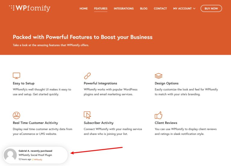 Wpfomify example