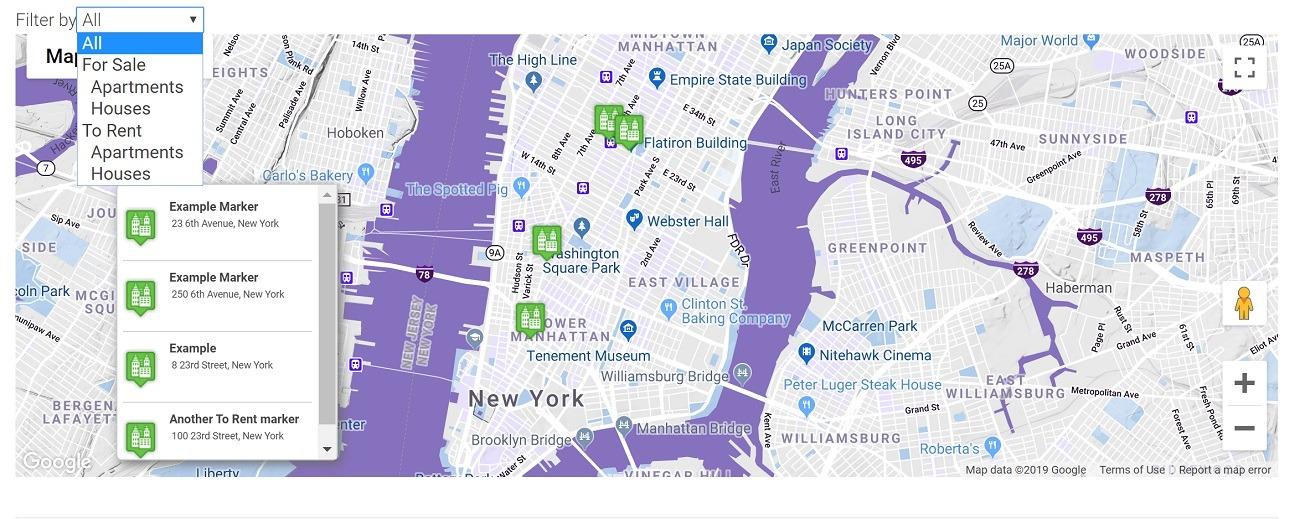 WP Google Maps example