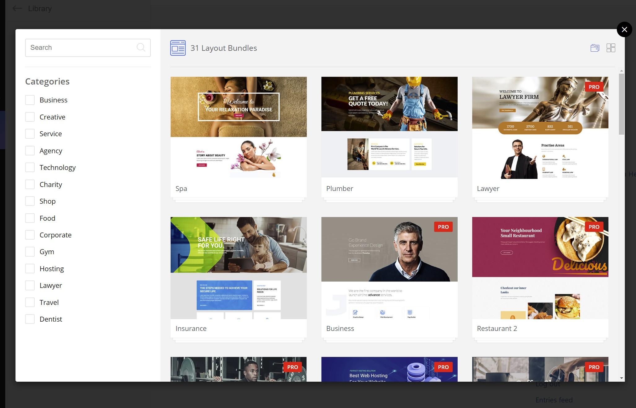WP Page Builder templates