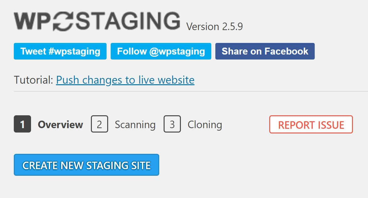 WP Staging Overview