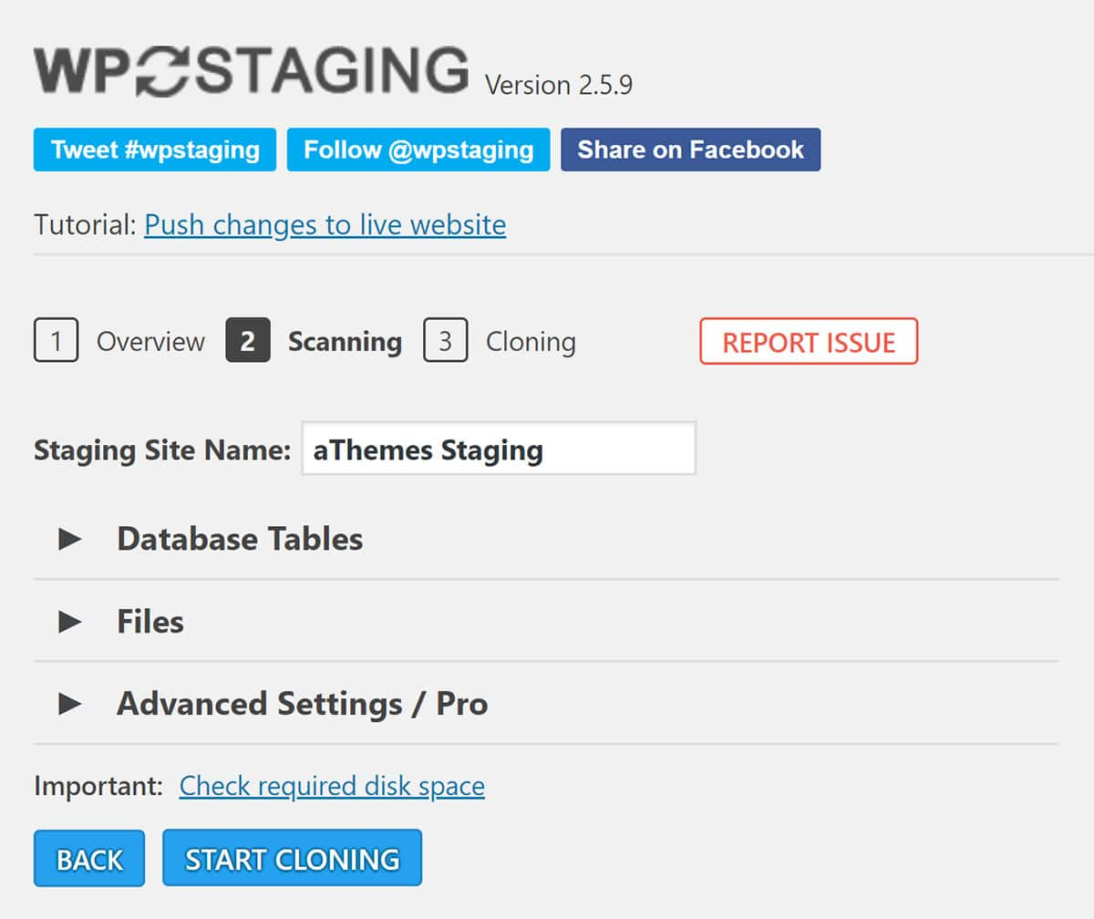 Scanning Your Website