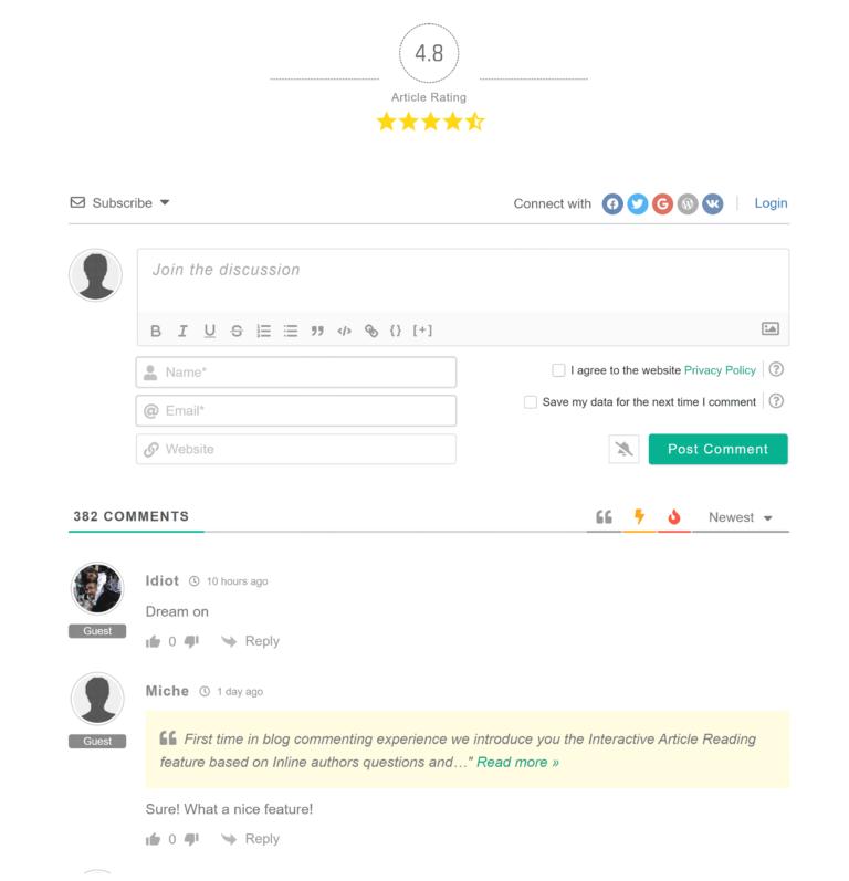wpDiscuz Comment Form