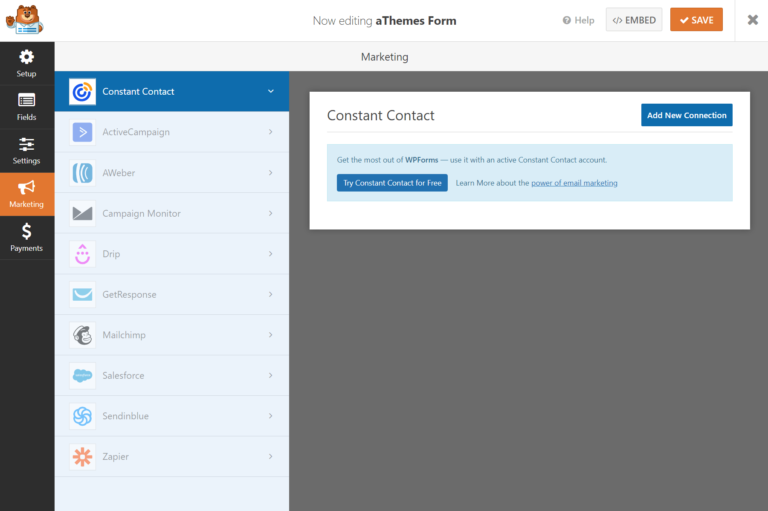WPForms email marketing