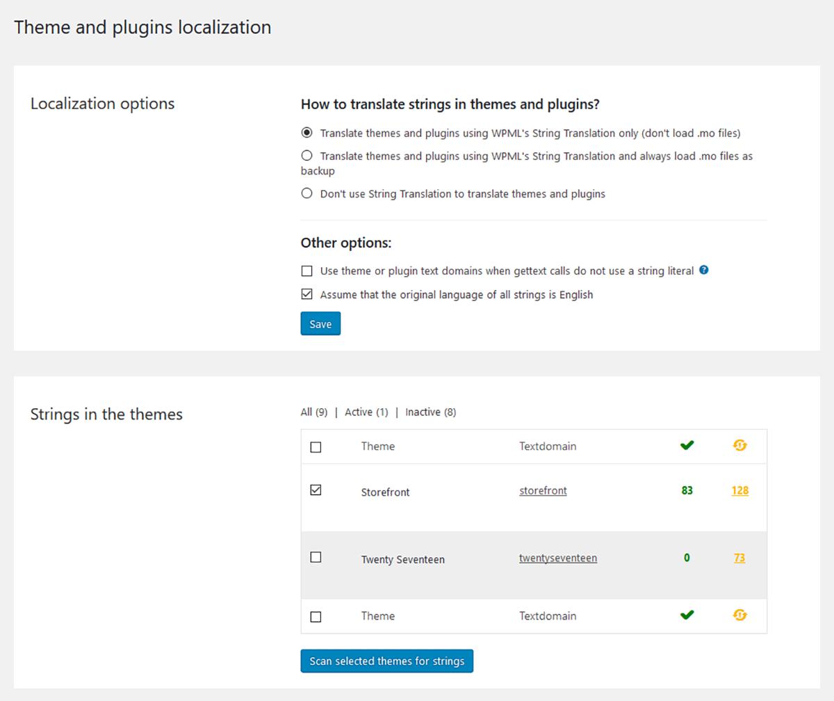 Themes & Plugins Localisation