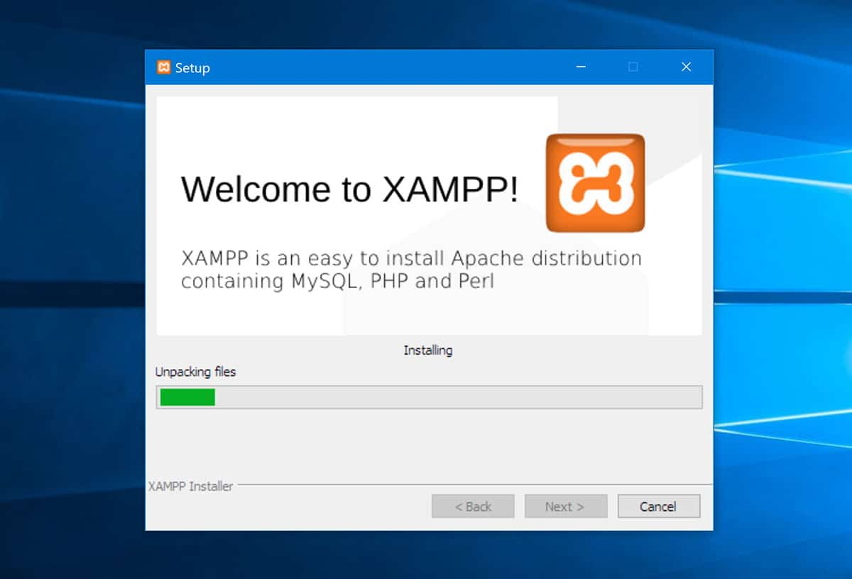 Installing XAMPP files